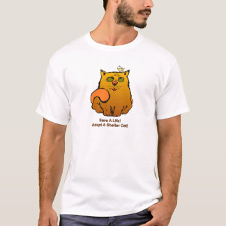 T-shirt Sauvez une vie - chat d'abri