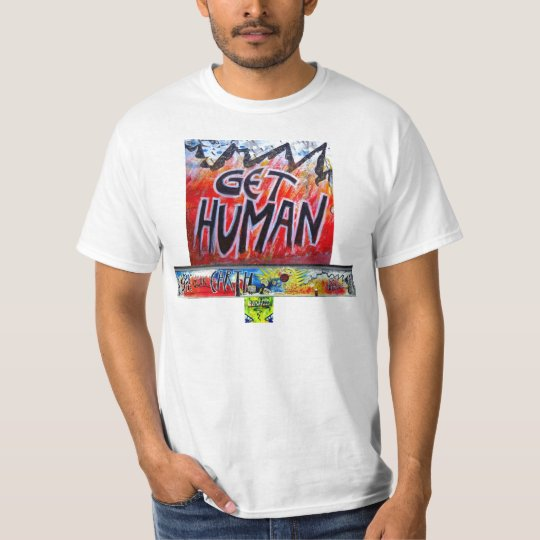 T-shirt SAVE OUR EARTH GET HUMAN BERLIN WALL By Indiano