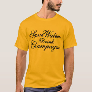 T-shirt Save Water boisson Champagne