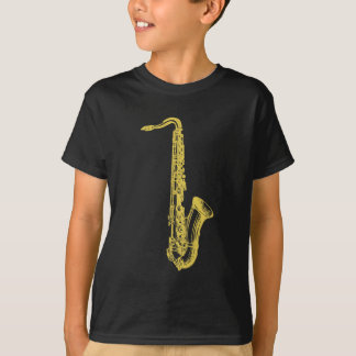 T-shirt Saxo en laiton