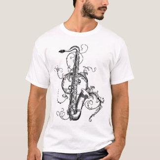 T-shirt Saxophone de tenor floral