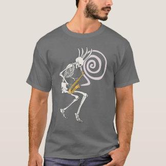 T-shirt Saxophone squelettique