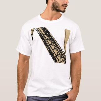 T-shirt saxophone ténor kaki