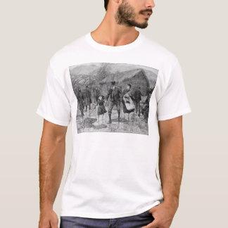 T-shirt Scène à une expulsion irlandaise dans le comté