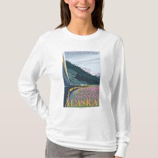 T-shirt Scène de chemin de fer de l'Alaska - parc national