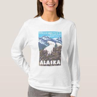 T-shirt Scène de chèvres de montagne - Fairbanks, Alaska