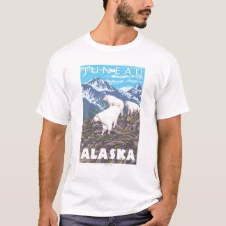 T-shirt Scène de chèvres de montagne - Juneau, Alaska