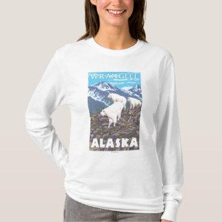 T-shirt Scène de chèvres de montagne - Wrangell, Alaska