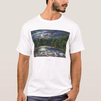 T-shirt Scène de clair de lune sur la crique de Catskill