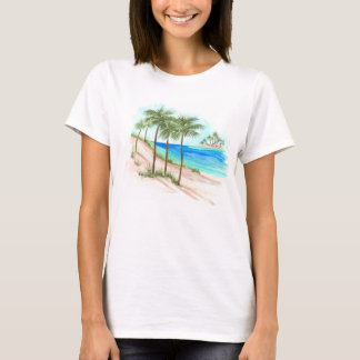 T-shirt Scène de plage