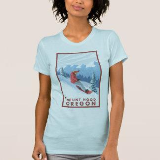 T-shirt Scène de surfeur - capot de bâti, Orégon