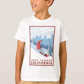 T-shirt Scène de surfeur - le lac Tahoe, la Californie