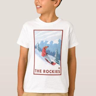 T-shirt Scène de surfeur - les Rocheuses