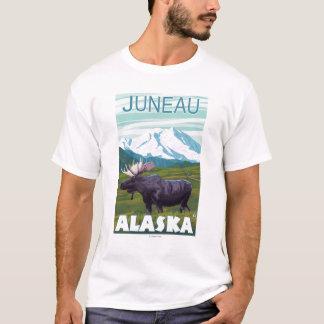 T-shirt Scène d'orignaux - Juneau, Alaska