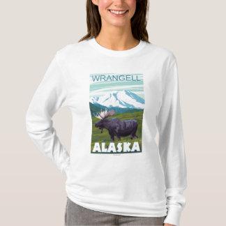 T-shirt Scène d'orignaux - Wrangell, Alaska