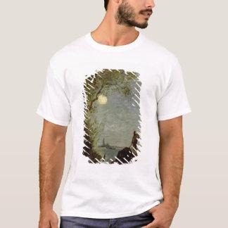 T-shirt Scène éclairée par la lune avec la gondole