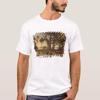 T-shirt Scène éclairée par la lune d'amon indien de