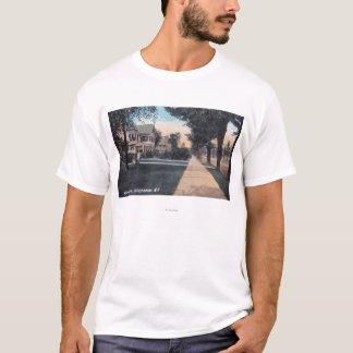 T-shirt Scène résidentielle sur la commande de rive