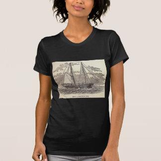 T-shirt Schooner vintage de flétan
