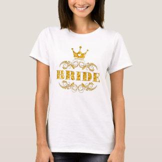 T-shirt Scintillement de jeune mariée d'or sur l'arrière -
