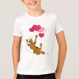 T-shirt Scooby Doo - ballons de coeur