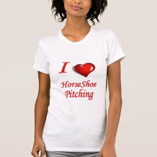 T-shirt Scoop décontracté de fers à cheval de dames