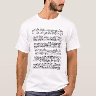 T-shirt Score de musique de Johann Sebastian Bach