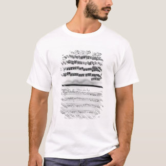 T-shirt Score de musique pour la suite de Telemann pour