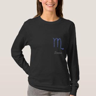 T-shirt Scorpion. Signe d'astrologie de zodiaque. Bleu
