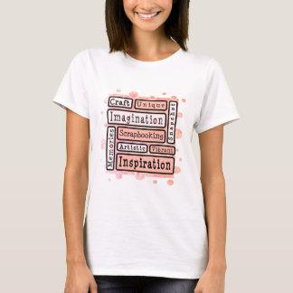 T-shirt Scrapbooking coloré