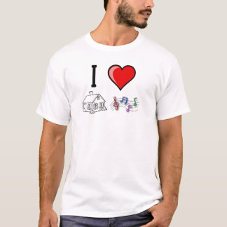 T-shirt SebasProductions I love le House Music