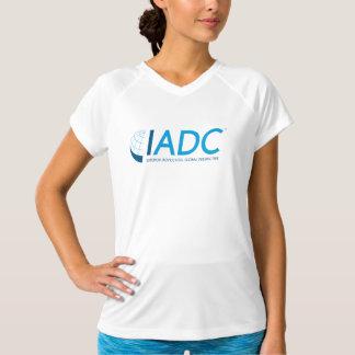 T-shirt sec de V-Cou de double de la championne