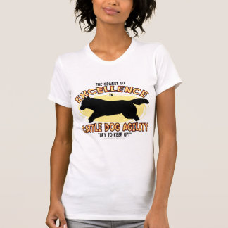 T-shirt secret de dames de chien de bétail d'agili