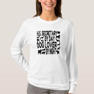 T-shirt Secrétaire de lycée d'amoureux des chiens