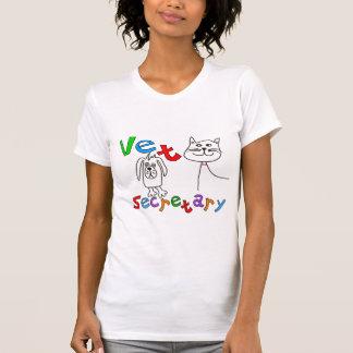 T-shirt Secrétaire Gifts, secrétaire vétérinaire de