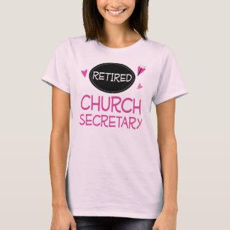 T-shirt Secrétaire retraité Pink Butterfly d'église