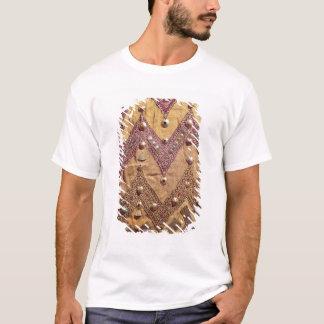 T-shirt Section de tissu brodé avec des plaques d'or