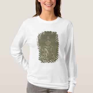 T-shirt Section de vert et de damassé d'or