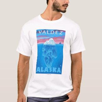 T-shirt Section transversale d'iceberg - Valdez, Alaska