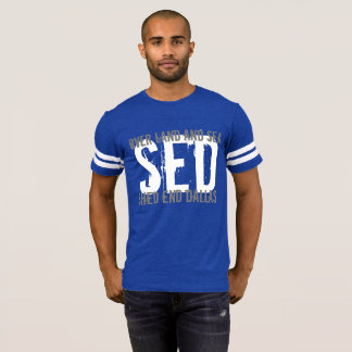 T-shirt SED au-dessus de pièce en t de terre et de mer