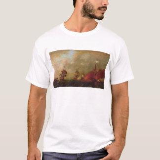 T-shirt Seigneur Howe et Comte d'Estaing outre de Rhode