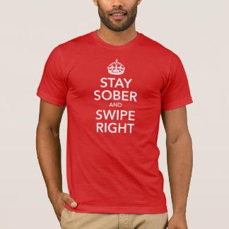 T-shirt Séjour sobre et droit de grand coup