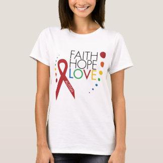 T-shirt Sensibilisation sur l'autisme - foi, espoir, amour