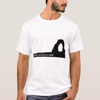 T-shirt sensible de silhouette de voûte