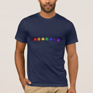 T-shirt Sept Chakras horizontal