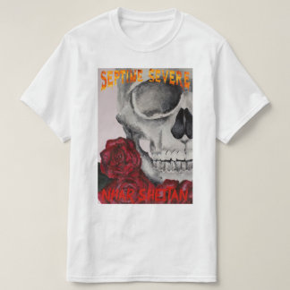T-shirt septime severe-skeleton and roses