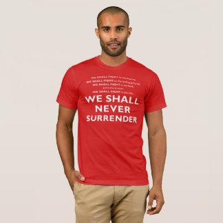T-shirt Série de BRAVOURE - la parole de Winston Churchill