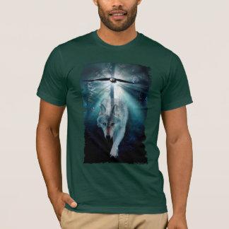 T-shirt Série de faune de LOUP et d'EAGLE