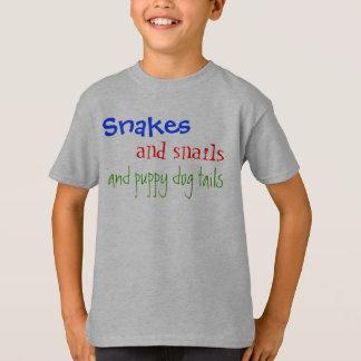 T-shirt Serpents, et escargots, et queues de chiot