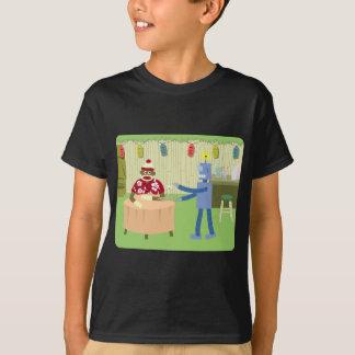 T-shirt Serveur de robot de singe de chaussette